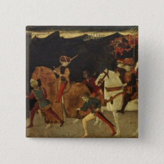 The Story of Alatiel, on Horseback and at a Banque Pinback Button
