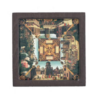The Story of David, painted tabletop, 1534 (oil on Keepsake Box