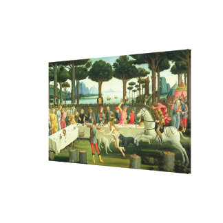 The Story of Nastagio degli Onesti Canvas Print
