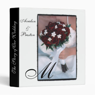 The Story of Our Wedding Rose Monogram Binder