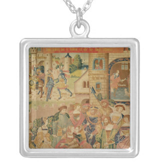 The Story of Perseus, 15th-16th century Silver Plated Necklace