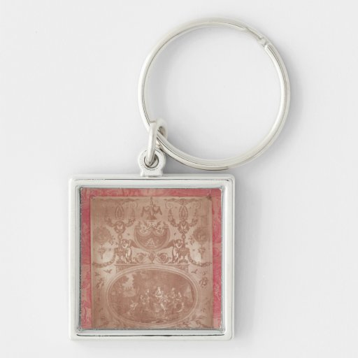The Story of Telemachus Silver-Colored Square Keychain