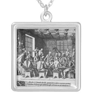 The Story of the Egg of Christopher Columbus Silver Plated Necklace