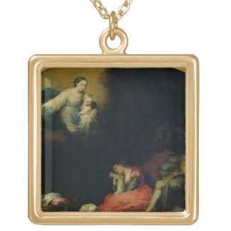 The Story of the Foundation of Santa Maria Maggior Gold Plated Necklace
