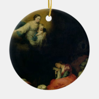 The Story of the Foundation of Santa Maria Maggior Double-Sided Ceramic Round Christmas Ornament