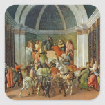 The Story of Virginia, c.1500 Square Stickers