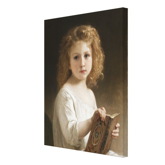 The Storybook - William Bouguereau Canvas Print