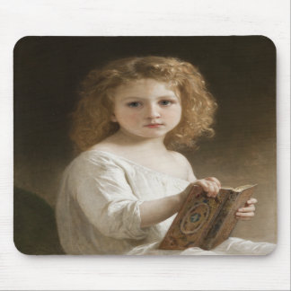 The Storybook - William Bouguereau Mouse Pad