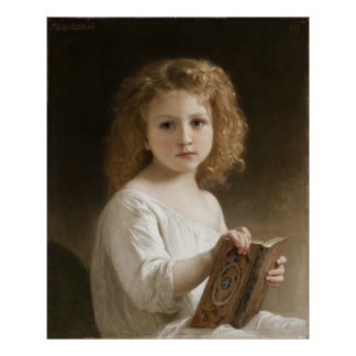The Storybook - William Bouguereau Poster