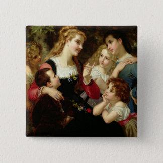 The Storyteller, 1874 (oil on canvas) Button