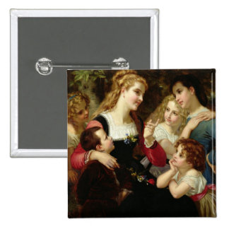 The Storyteller, 1874 (oil on canvas) Pinback Buttons