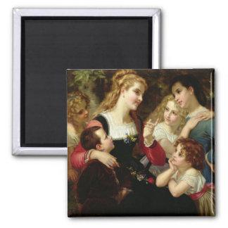 The Storyteller, 1874 (oil on canvas) Magnets
