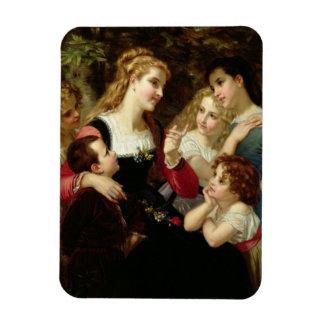 The Storyteller, 1874 (oil on canvas) Flexible Magnet