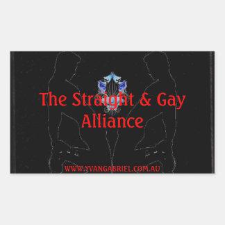The Straight & Gay Alliance Rectangular Sticker