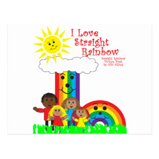 The Straight Rainbow Postcard