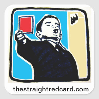 The Straight Red Card Sticker