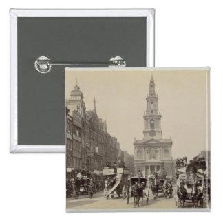 The Strand c 1880 sepia photo Button