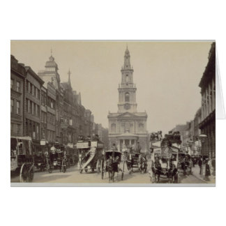 The Strand, c.1880 (sepia photo) Greeting Card