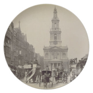 The Strand, c.1880 (sepia photo) Dinner Plate