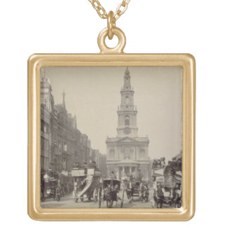 The Strand, c.1880 (sepia photo) Gold Plated Necklace