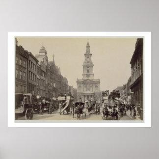 The Strand, c.1880 (sepia photo) Poster