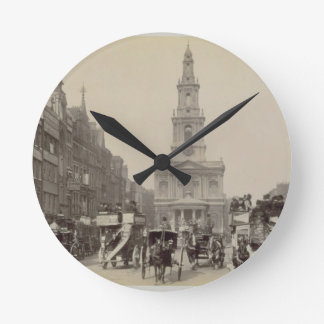 The Strand, c.1880 (sepia photo) Round Clock