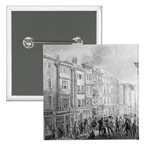 The Strand from the corner of Villiers Street Pinback Buttons