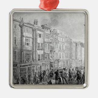 The Strand from the corner of Villiers Street Metal Ornament