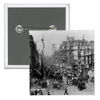 The Strand London with Jubilee Decorations Button