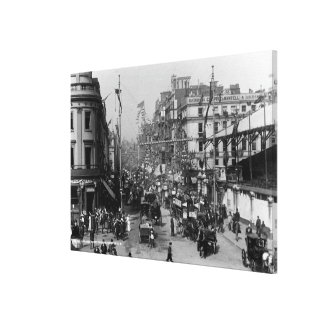 The Strand London with Jubilee Decorations Canvas Print