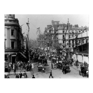 The Strand London with Jubilee Decorations Postcard