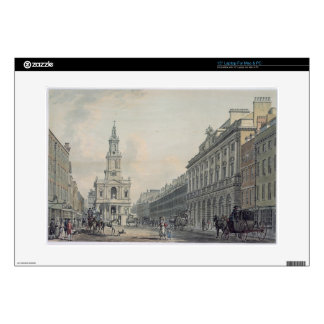 The Strand with Somerset House and St. Mary le Str Laptop Decal