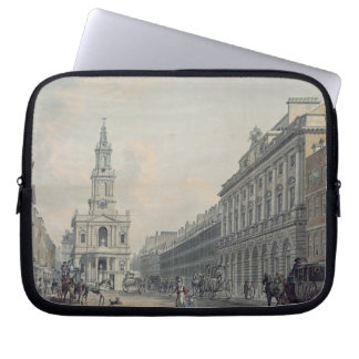The Strand with Somerset House and St. Mary le Str Computer Sleeves