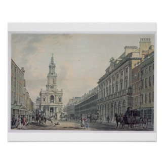 The Strand with Somerset House and St. Mary le Str Poster