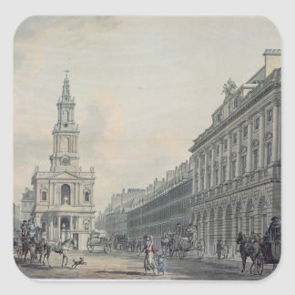 The Strand with Somerset House and St. Mary le Str Square Sticker