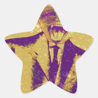 The Strange Business Man Star Sticker