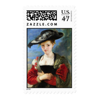 The Straw Hat Peter Paul Rubens masterpiece Postage Stamp