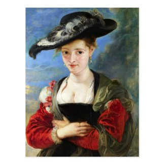 The Straw Hat Peter Paul Rubens masterpiece Postcards