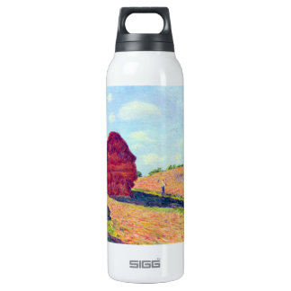 The straw rents by Alfred Sisley 16 Oz Insulated SIGG Thermos Water Bottle