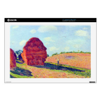 """The straw rents by Alfred Sisley 17"""" Laptop Decal"""