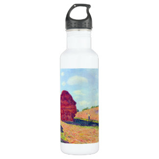 The straw rents by Alfred Sisley 24oz Water Bottle