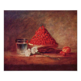 The strawberry basket by Jean Chardin Poster