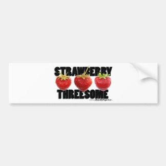 The Strawberry Threesome Bumper Sticker