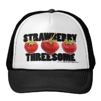 The Strawberry Threesome Trucker Hat