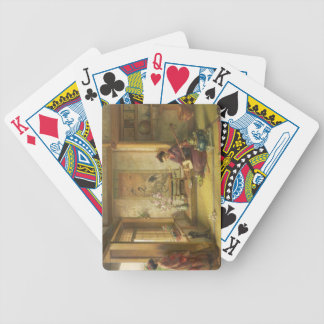 The Stray Shuttlecock (oil on canvas) Bicycle Playing Cards