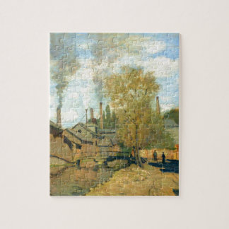 The Stream of Robec at Rouen by Claude Monet Jigsaw Puzzles