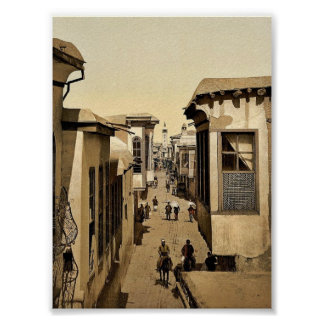 The street called straight, Damascus, Holy Land, ( Poster