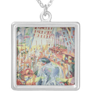 The Street Enters the House, 1911 Silver Plated Necklace