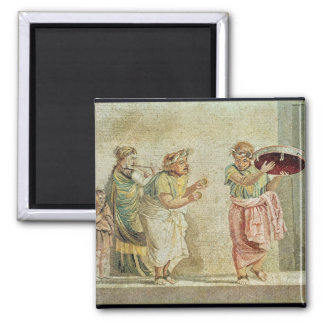 The Street Musicians, c.100 BC 2 Inch Square Magnet