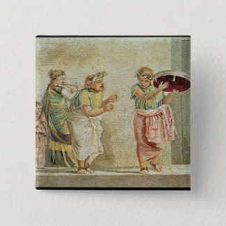 The Street Musicians, c.100 BC Button